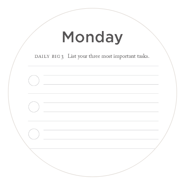 Complete daily tasks in your Full Focus Planner