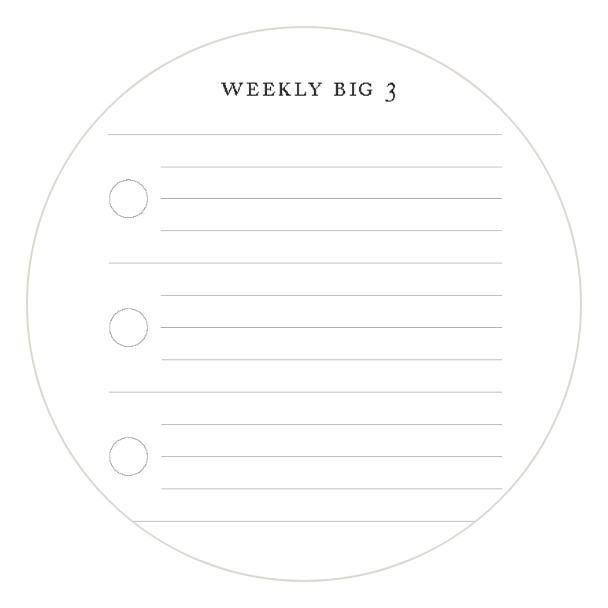 Complete weekly tasks in your Full Focus Planner