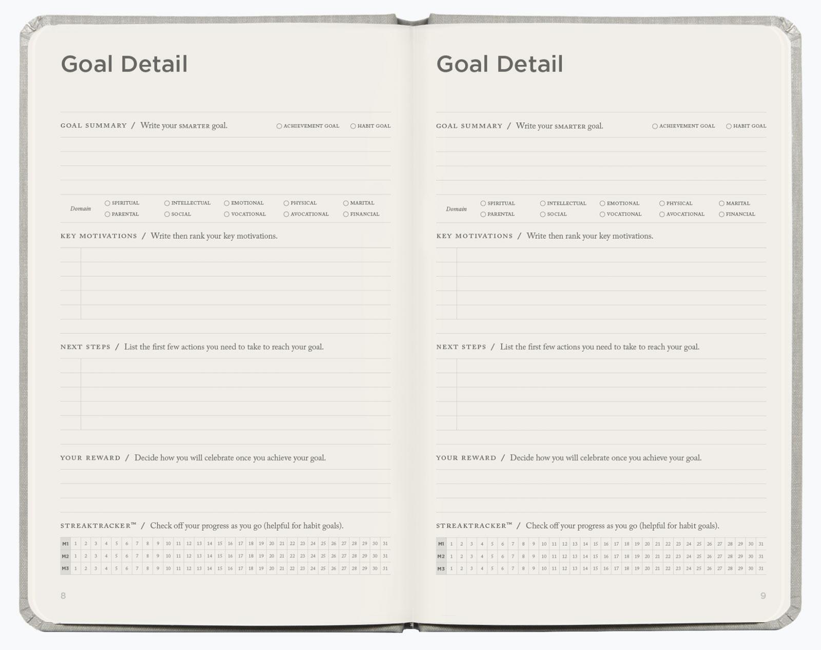Break down your goal details