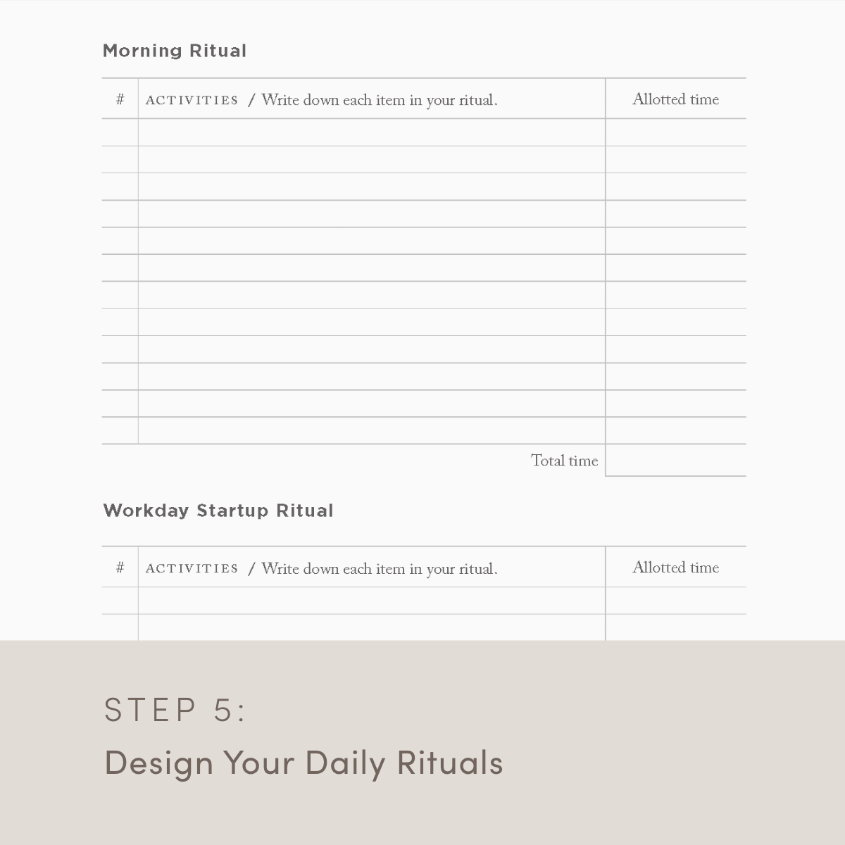 Design your daily rituals